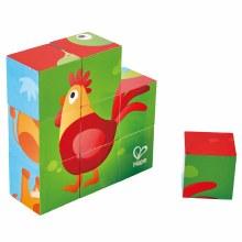 Casse-tête de cubes - Animaux de la ferme