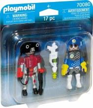 Policier de l'espace et robot