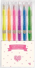 6 Crayons gel Néon