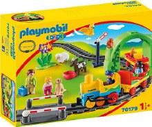 Train avec passagers et circuit