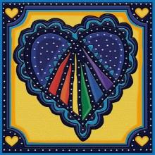 Jacarou Diamants - Coeur Bleu Nuit