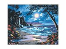 Peinture à Numéros - Paradis sous la lune