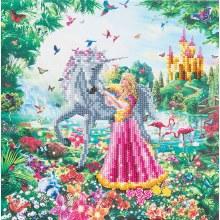 Crystal Art - Princesse et Licorne - Medium