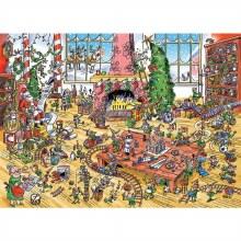 Casse-tête 1000 mcx - Doodle Town - Lutins au travail