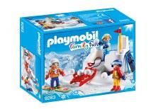 Enfants & boules de neige