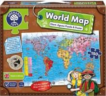 Casse-tête géant, 150mcx - World Map