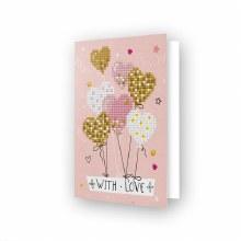 Carte Diamond Dotz - Ballons Coeur