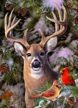 Casse-tête 500 mcx - One Deer Two Cardinals