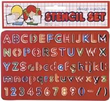 Stencil set - Alpha Number