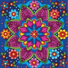Jacarou Diamants - Mandala Fleuri