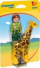 Soigneur avec Girafe