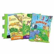 Livre Oreiller 1-2-3 Jungle