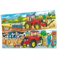 Casse-tête, 2 x 6 mcx - les tracteurs