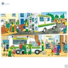Casse-tête, 2 x 6 mcx - les ambulances