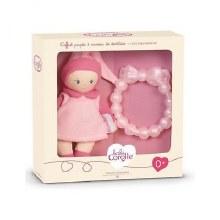 Coffret poupée rose & anneau de dentition