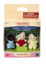 Calico Critters - Triplets de la famille de chat Tuxedo
