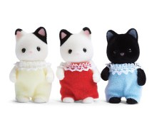 Calico Critters - Triplets Chats Tuxedo