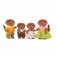Calico Critters - Famille de Labradors chocolats