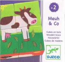 4 cubes Ferme colorée - Meuh et Co.