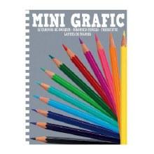 Mini Grafic - 12 crayons de couleurs