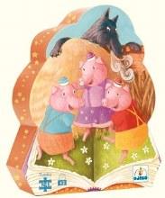 Casse-tête, 24 mcx - Les trois petits cochons