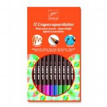 12 Crayons aquarellables