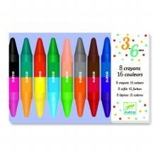 8 crayons 16 couleurs