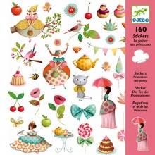 160 Autocollants - Le thé des princesses