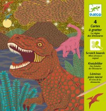 Cartes à gratter - Le règne des dinosaures