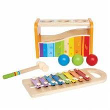 Banc xylophone et marteau