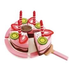 Gâteau de fête en bois