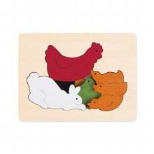 Casse-tête relief - Le poulet et ses amis