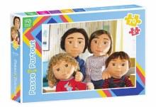 Casse-tête Passe partout 70 Mcx - La famille de marionnette