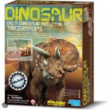 Excavation d'un squelette de Triceratops