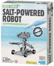 Robot roulant à l'eau salée