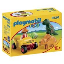 Explorateur et dinosaure