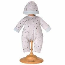 14'' - Pyjama gris étoilé et bonnet