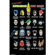 DC Comic Superheros Poster