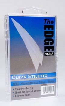 Edge Stiletto Tip Clear 100mix