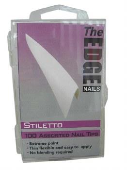 Edge Stiletto Tip White 100mix