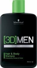 3D Men 1Ltr Hair Body Shampoo