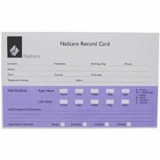 AG App Card Nail Purp/Wh 100pk