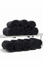DST Salon Towels Black 12pk
