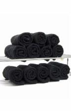 DST Salon Towels Black 12pk
