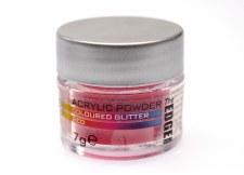 Edge Acrylic Glitter 7g Red