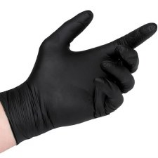 Glove Nitrile PF Blk Largx100