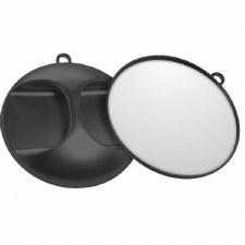 STR Mirror Round Black 29cm
