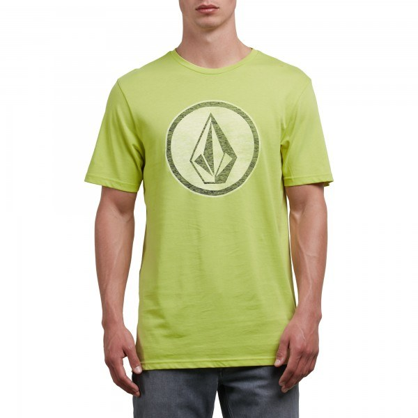 VOLCOM CLASSIC STONE TEE LIME MEDIUM