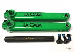 LA CASA 8 SPLINE CRANKSET GRN