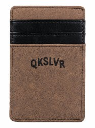 QUIKSILVER CASH CLIP WALLET BROWN